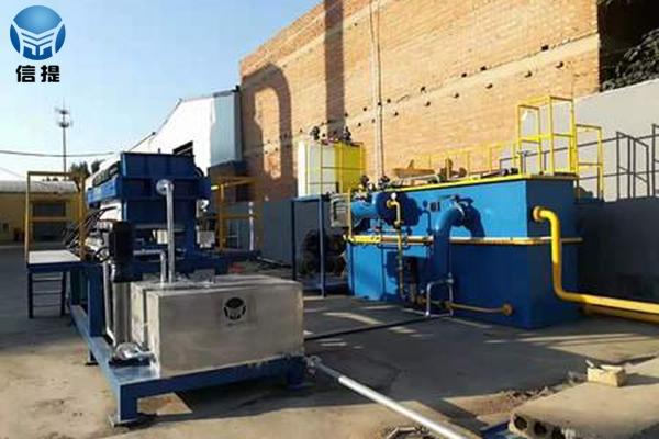 含油污水处理设备施工现场